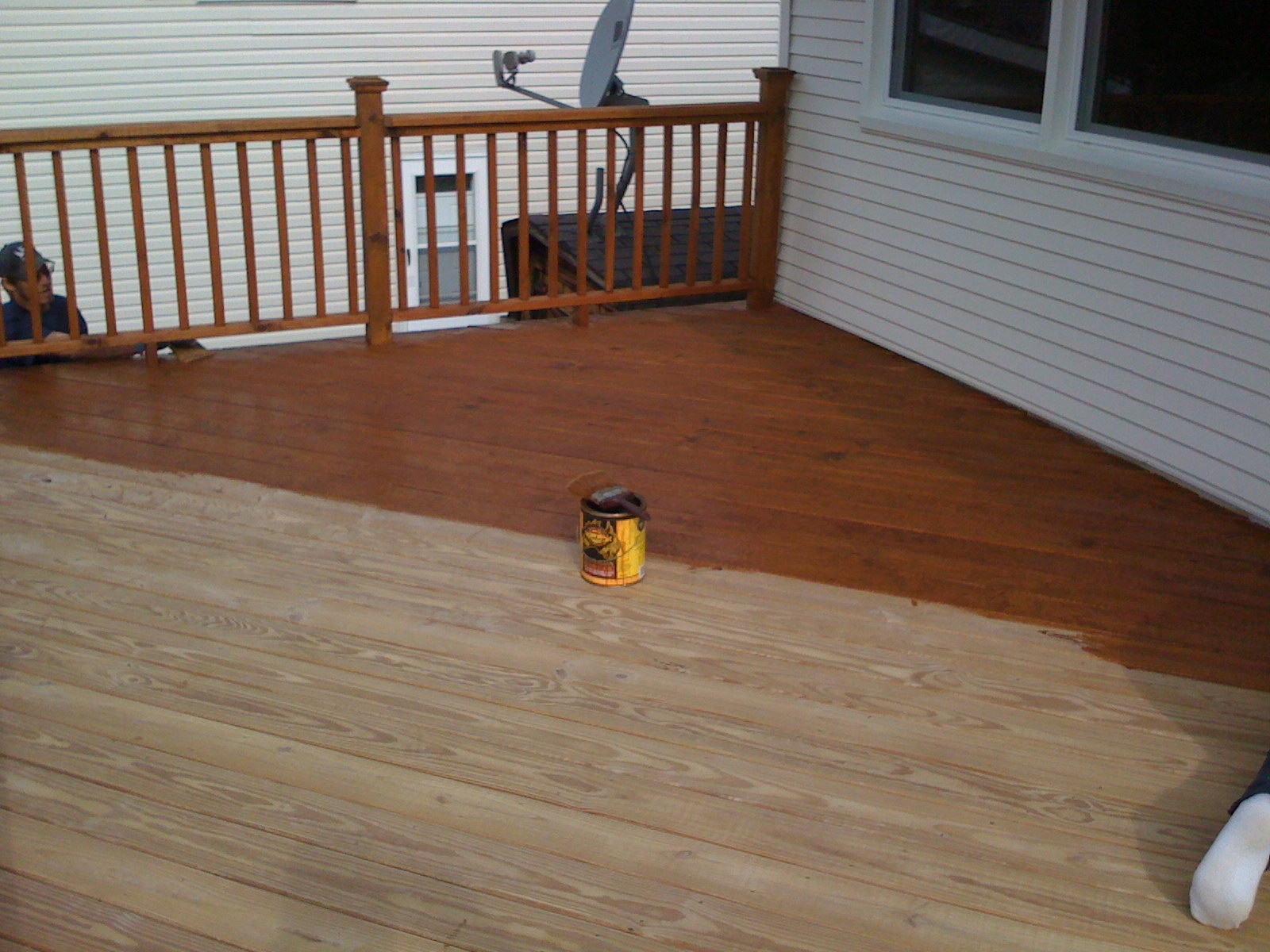 Power washing a deck - Deck Staining Chicago